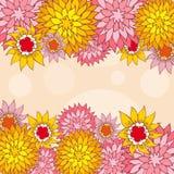 Von Hand gezeichnet Blumen-Gruß-Karte. Stockfotos
