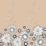 Von Hand gezeichnet Blumen-Gruß-Karte. Lizenzfreies Stockfoto