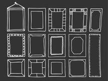 Von Hand gezeichnet Felder Lizenzfreie Stockbilder