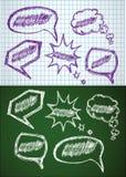 Von Hand gezeichnet flüchtige Luftblasen Lizenzfreies Stockfoto