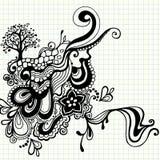 Von Hand gezeichnet Gekritzel wirbelt Vektor Lizenzfreie Stockfotos