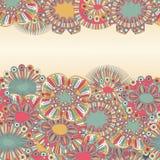 Von Hand gezeichnet mit Blumenhintergrund Lizenzfreies Stockfoto