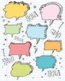 Von Hand gezeichnet Spracheluftblasen Lizenzfreies Stockfoto