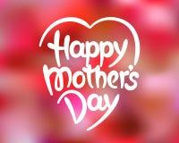 Von Hand gezeichnete Beschriftung des glücklichen Muttertags Stockfoto