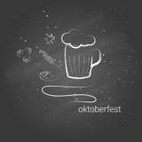 Von Hand gezeichnete Fahne für Octoberfest Stockfotos