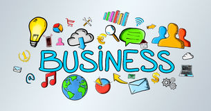 Von Hand gezeichnete Geschäftsillustration Stockbild
