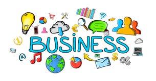 Von Hand gezeichnete Geschäftsillustration Lizenzfreie Stockfotos