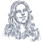 Von Hand gezeichnete Illustration des grafischen Vektors der weißen Haut attraktiv lizenzfreie abbildung