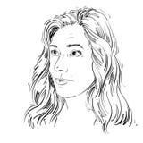 Von Hand gezeichnete Illustration des grafischen Vektors der weißen Haut attraktiv stock abbildung