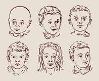 Von Hand gezeichnete Kinder Auch im corel abgehobenen Betrag Lizenzfreie Stockbilder