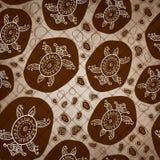 Von Hand gezeichnete Sammlung Weinlese Sepia Muster Stockfotos