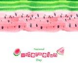 Von Hand gezeichnete schöne süße Wassermelone des Aquarells Lizenzfreie Stockbilder