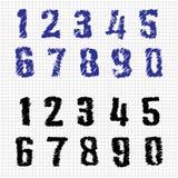 Von Hand gezeichnete Zahlen Lizenzfreie Stockbilder