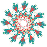 Von Hand gezeichneter dekorativer runder Spitzerahmen Stockbilder