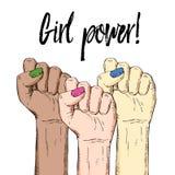 Von Hand gezeichneter Hintergrund des Vektors, skizzieren multikulturelle Illustration Schablone für den Druck, annoncierend, Pla Lizenzfreies Stockfoto