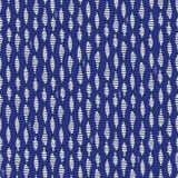 Von Hand gezeichneter Kokon-Kennzeichen-Sahnevektor-nahtloses Muster Abstrakte stilisierte Wasserkräuselungen Indigo-geometrische stock abbildung