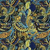 Von Hand gezeichnetes abstraktes nahtloses Muster Stockfotografie