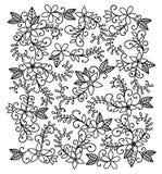 Von Hand gezeichnetes Blumenmuster Stockfotos