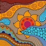 Von Hand gezeichnetes ethno Muster, Stammes- Hintergrund Es kann für Tapete, Webseite, Taschen, Druck und andere verwendet werden Lizenzfreie Stockfotografie