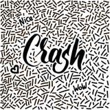 von Hand gezeichnetes Gekritzel der Linie-Kunst mit modernem Kalligraphiewort Abbruch! Lizenzfreie Stockfotos