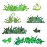 Von Hand gezeichnetes Gras Auch im corel abgehobenen Betrag Stockfotografie