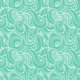 Von Hand gezeichnetes Muster der nahtlosen Welle Stockbilder