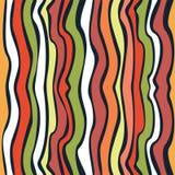Von Hand gezeichnetes Muster der nahtlosen Welle Lizenzfreie Stockbilder