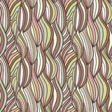 Von Hand gezeichnetes Muster der nahtlosen Wellen Stockfoto
