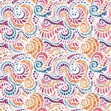 Von Hand gezeichnetes Muster der nahtlosen Wellen Lizenzfreie Stockfotografie