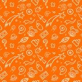 Von Hand gezeichnetes Symbol-Muster Stockfotos