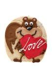 Von Hand verziertes Plätzchen für St.-Valentinsgruß-Tag Lizenzfreies Stockbild