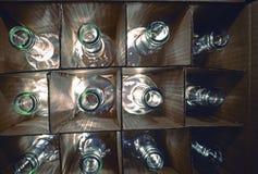 Von hinten beleuchtete Flaschen Lizenzfreie Stockbilder