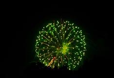 4the von Juli-Feuerwerken stockbild