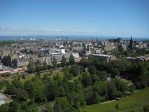 Von links nach rechts können die pentland Hügel, die Oberseite Kathedrale der Str Stockfoto