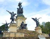 Von Miller Monument på Puente de Boyaca royaltyfri fotografi