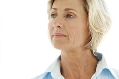 Von mittlerem Alter Frau lizenzfreie stockbilder
