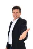 Von mittlerem Alter Mann verleiht helfende Hand Stockbilder