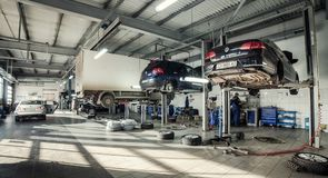 16 von November - Vinnitsa, Ukraine Service-Center von Volkswagen Stockbilder