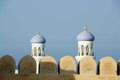 Von Oman Fort und Minaretts Lizenzfreie Stockfotos