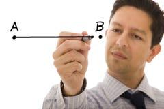 Von Punkt A bis B Lizenzfreie Stockfotos
