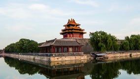 Von Tag zu Nacht, unterschiedliche Ansicht von Verbotener Stadt, Peking, China stock footage
