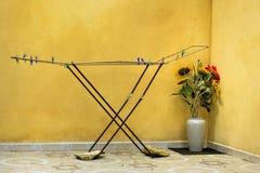 Mediterraan zonnebloemen & wasrek Royalty-vrije Stock Afbeeldingen