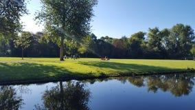 Vondel Dream. Peace& Quiet in Amsterdam Vondel Park Stock Photos