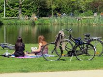 Vondel Park in Amsterdam Stock Photo