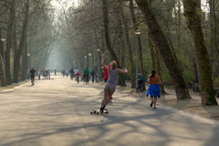 Vondelpark em Amsterdão Fotografia de Stock Royalty Free