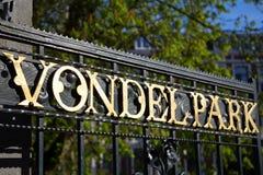 Vondelpark i Amsterdam Arkivfoto