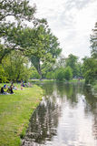 Vondelpark people in the summer Stock Photography