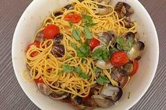 Vongole degli spaghetti Fotografia Stock Libera da Diritti