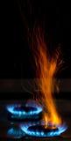 Vonken en vlammen royalty-vrije stock foto's