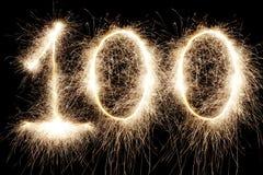 Gloeiende 100 Royalty-vrije Stock Fotografie